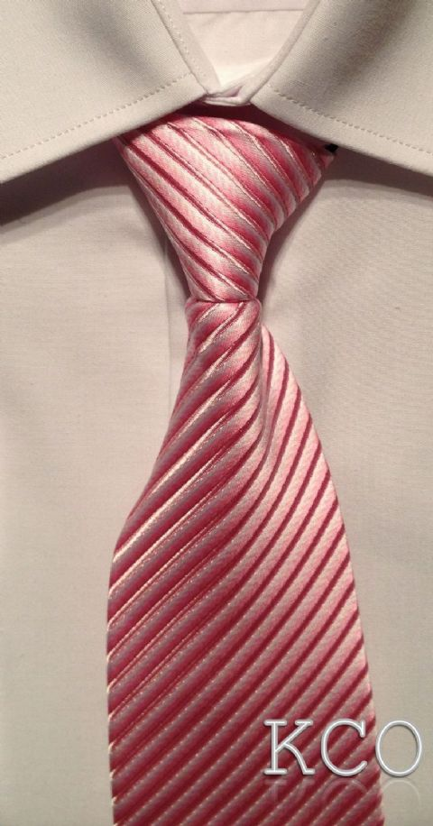 Elasticated Tie~ Style 140E Pink